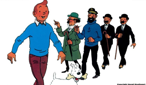 Tintin Haddock Tornassol Milu Herge