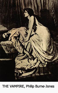 Vampirs La novia de Corinto Goethe The Vampire Burne-Jones