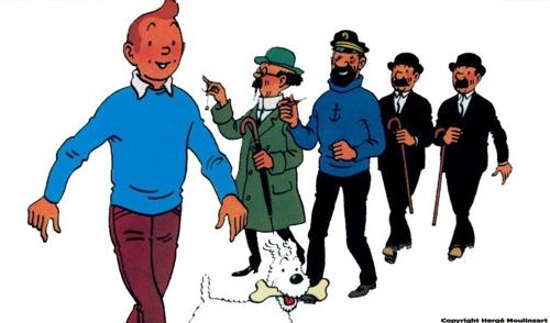 Tintin Haddock Tornassol Milu Herge