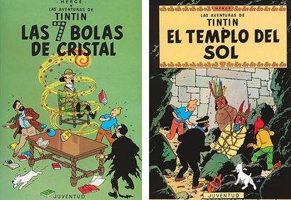 Tintin Siete bolas de Cristal Templo del Sol Herge