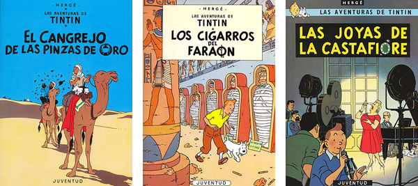Tintin Cangrejo pinzas de oro Cigarros del faraon Joyas de la Castafiore Herge
