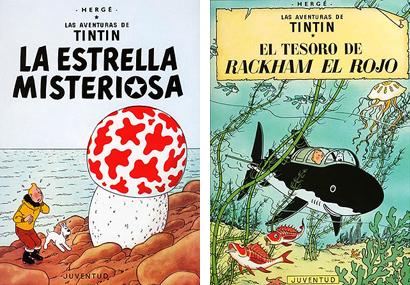 Tintin La Estrella Misteriosa El tesoro de Rackham el Rojo Herge