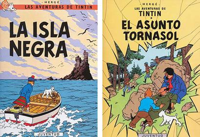 Tintin La isla negra El asunto Tornassol Herge