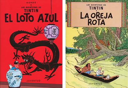 Tintin Loto azul Oreja Rota Herge