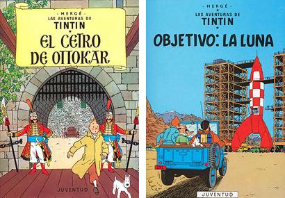 Tintin El cetro de Ottokar Objetivo:La Luna Herge