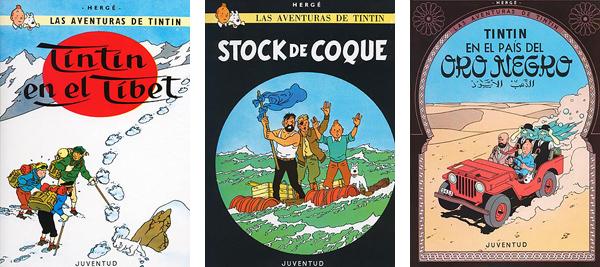 Tintin Tibet Stock de Coque Oro Negro Herge