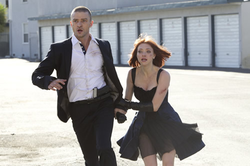 "Justin Timberlake i Amanda Seyfried a ""In Time""."