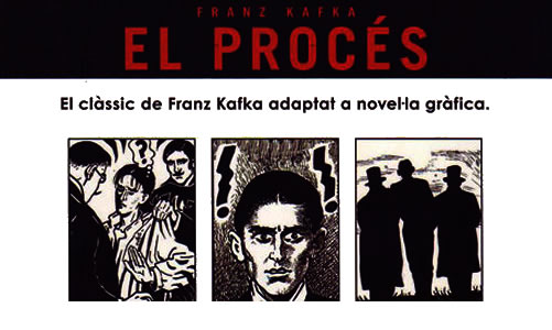 """Contaportada de """"El procés"""" de Franz Kafka."""