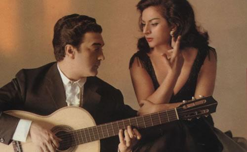 """Antonio González """"El Pescaílla"""" i Lola Flores."""
