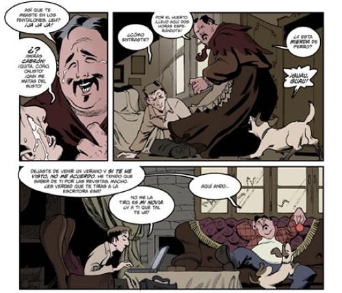 """Vinyetes de l'adaptació al còmic de """"Lobos de Arga"""""""