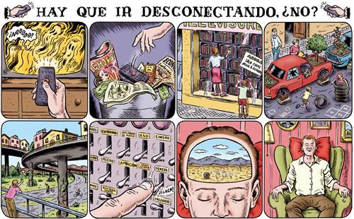 """Vinyetes de """"Memorias de la Tierra"""" de Miguel Brieva."""