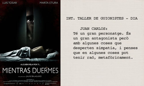 Mientras duermes (2011)  Guió d'Alberto Marini.