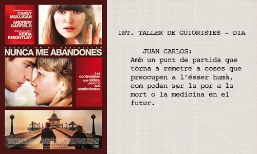 Nunca me abandones (2010)  Guió d'Alex Garland basat en una novel·la de Kazuo Ishiguro.