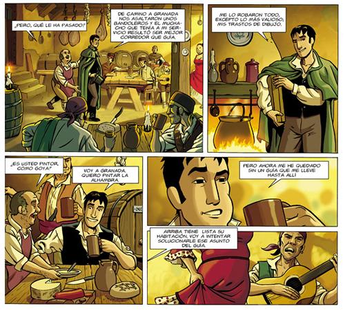 """Vinyetes de """"Hijos de la Alhambra"""" de Paco Roca."""