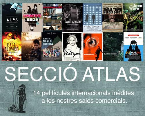 Cartells de les pel·lícules que participen a la Secció Atlas de l'Atlántida Film Fest.