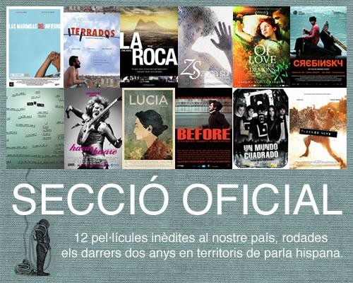 Cartells de les pel·lícules que competeixen a la Secció Oficial.