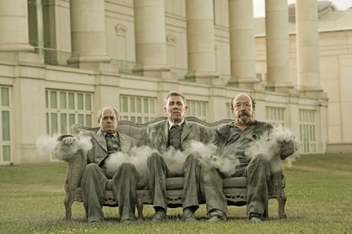 """Quimet Pla, Lluís Soler i Pep Cruz, en una imatge promocional de """"Rei i Senyor"""""""