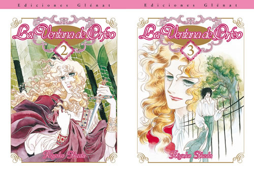 """Portades dels volums 2 i 3 de """"La ventana de Orfeo""""."""