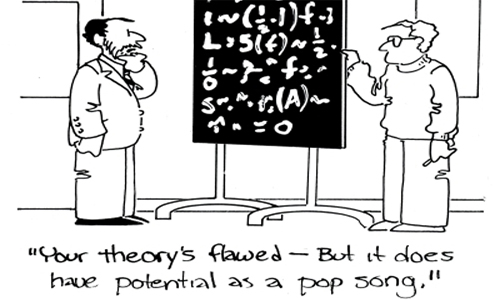 Fórmula música pop - Tira de CartoonStock.com