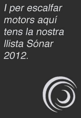 Llista Spotify del Sónar 2012