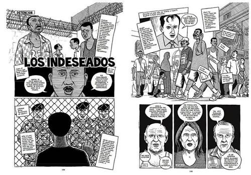 """Vinyetes de """"Reportajes"""", de Joe Sacco."""