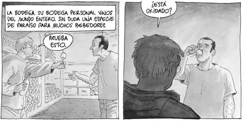 """Vinyetes de """"Los Ignorantes"""" d'Étienne Davodeau."""