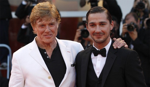 "Robert Redford i Shia LaBeouf a la presentació de ""The company you keep"""