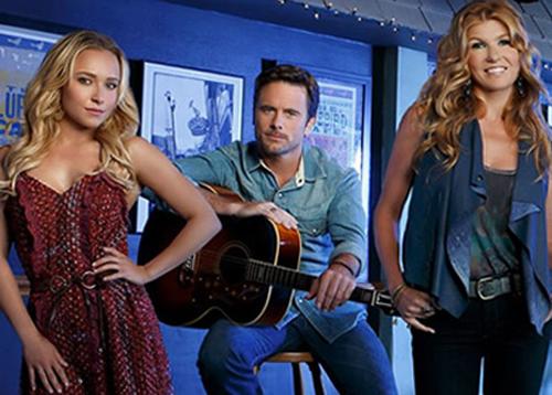 """Hayden Panettiere, Charles Esten i Connie Britton a """"Nashville"""""""
