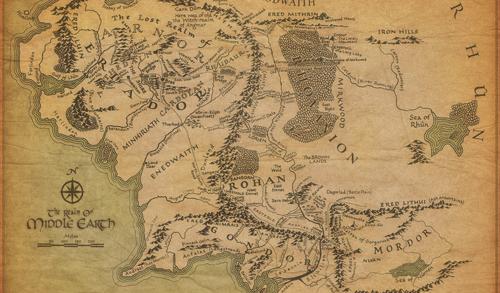 El Hobbit Mapa Tierra Media