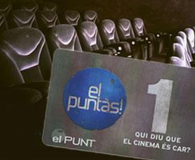 """""""El Puntàs"""" Tarifa plana de cinema a cinemes el Punt de Cerdanyola del Vallés."""