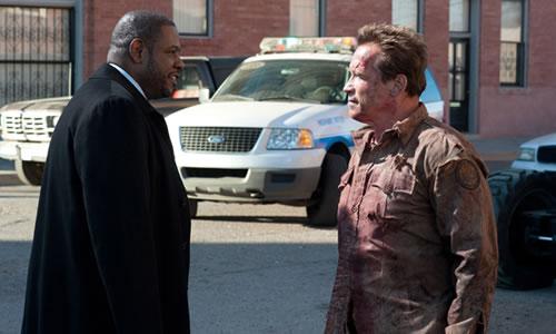 """Forest Whitaker i Arnold Schwarzenegger a """"El último desafío""""."""