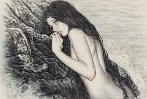 """Il·lustració de Victoria Francés a """"El lamento del Océano""""."""