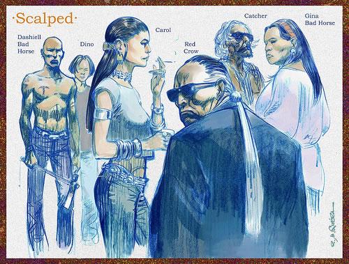 "Personatges de ""Scalped""."