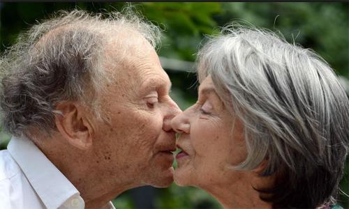 "Jean-Louis Trintignant i Emmanuelle Riva a ""Amour"" de Michael Haneke"