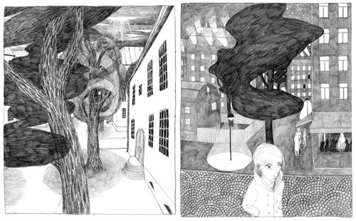 """Vinyetes de """"Frances"""", de Joanna Hellgren."""
