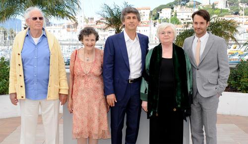 """Alexander Payne i els actors de """"Nebraska"""" a Cannes. (C) FDC"""