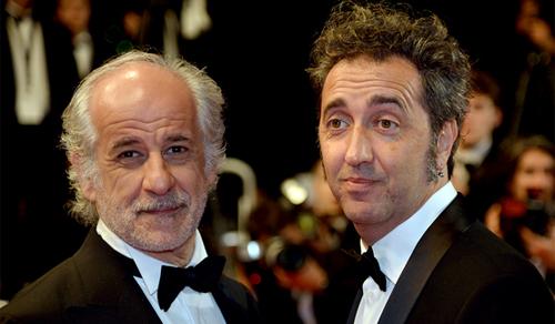 Paolo Sorrentino y Toni Servillo. (C) AFP