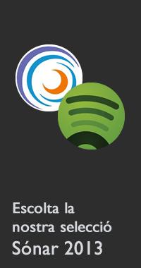 Llista Spotify del Sónar 2013.