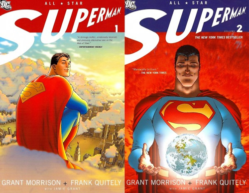 "Portades Originals de ""All Star Superman"" #1 #2"