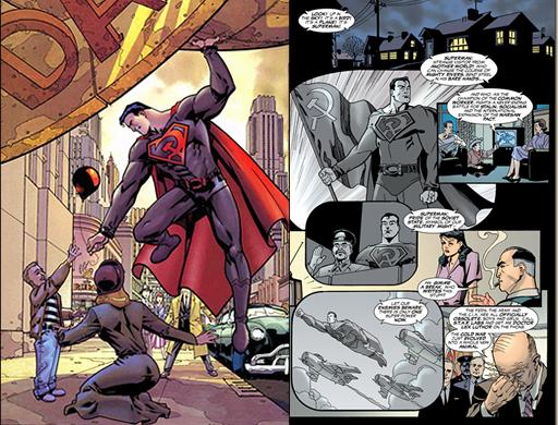 "Vinyetes de ""Superman: Hijo Rojo"""