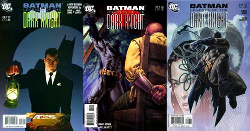 "Portades originals de ""Batman: Legends of the Dark Knight"", 207, 209, 211"
