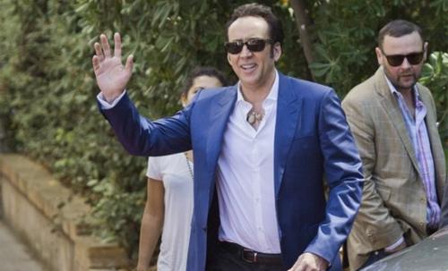 Nicolas Cage arribant a la presentació de 'Joe' a Venècia
