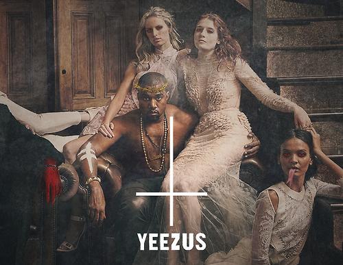 """Imatge promocional de """"Yeezus"""" de Kanye West."""