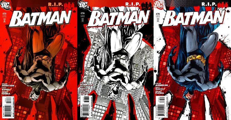 "Portades originals de ""Batman R.I.P."""
