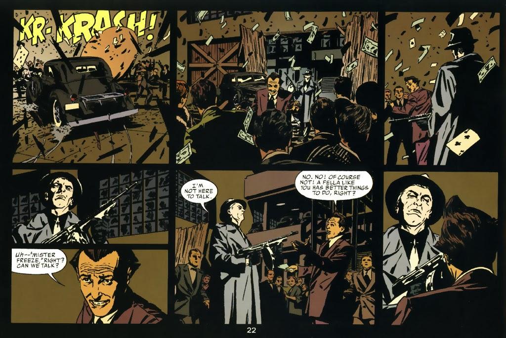 """Vinyetes de """"Batman: Nueve Vidas"""" de Dean Motter i Michael Lark."""