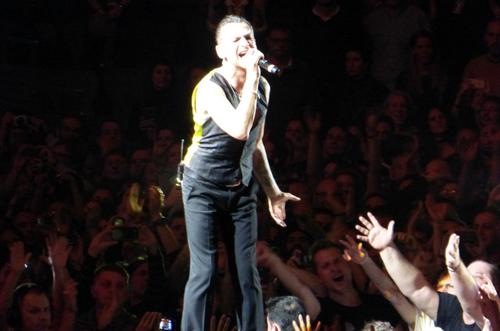 Dave Gahan al concert de Depeche Mode a Barcelona