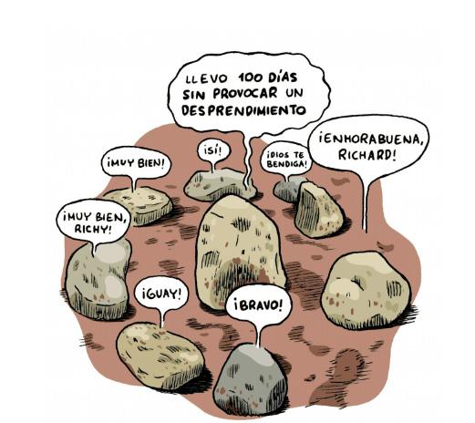 """Vinyeta de """"Realidad a la Piedra"""" de Joaquín Reyes."""