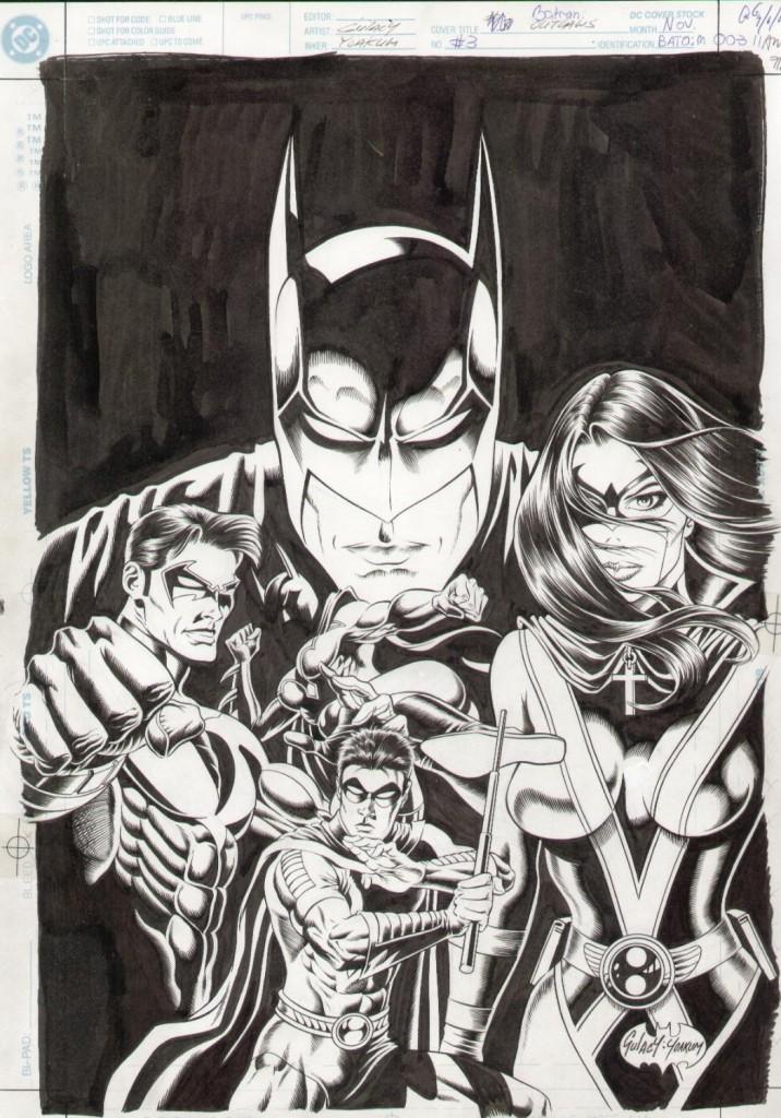 """Artwork de Paul Gulacy para """"Batman. El Caballero Oscuro: Forajidos"""" ECC"""