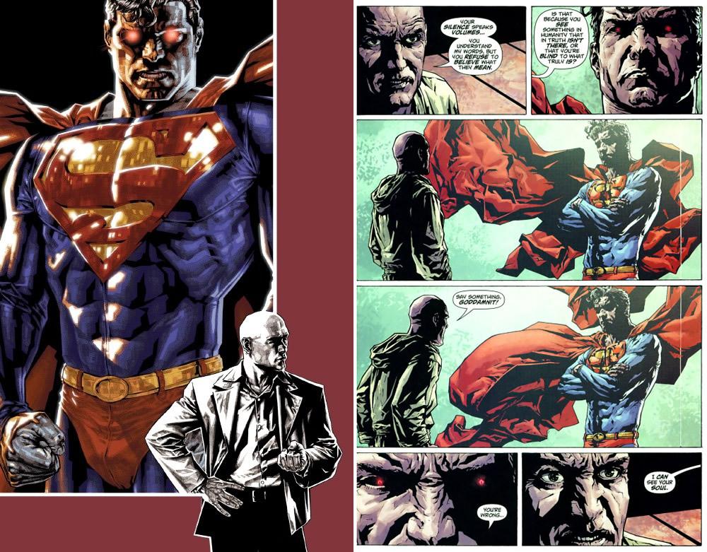 "Vinyetes de ""Lex Luthor"" de Brian Azzarello i Lee Bermejo."