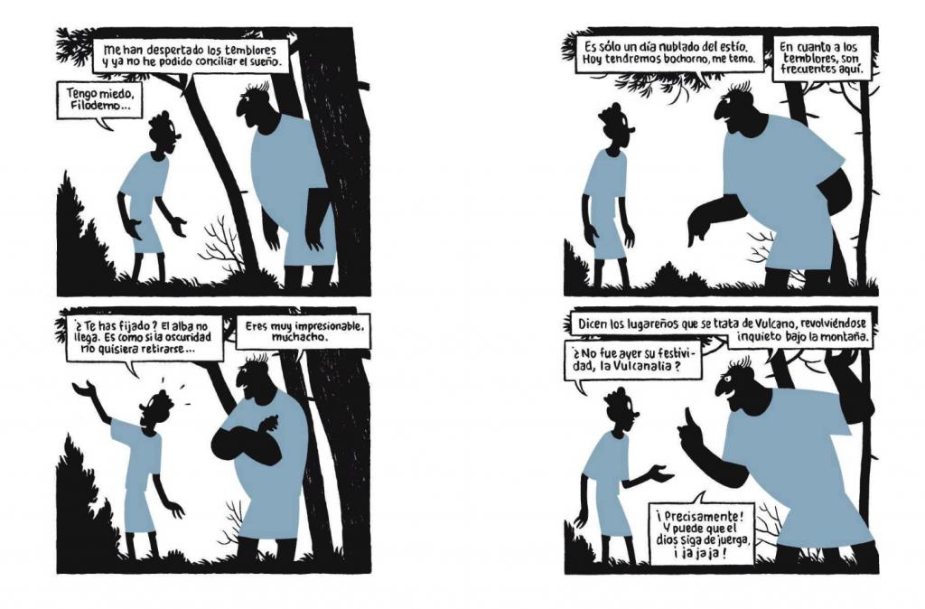 """Vinyetes de """"Conversación de sombras"""" de Max. Editat per La Cúpula."""